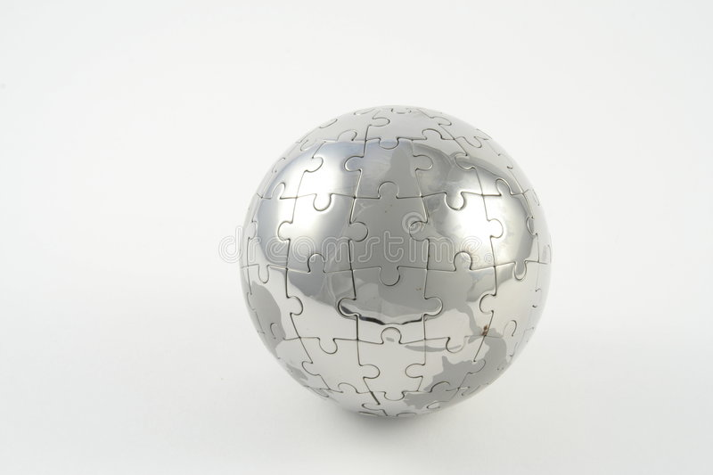 Jigsaw Globe royalty free stock image