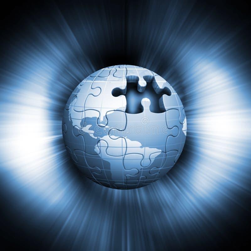 Jigsaw globe vector illustration