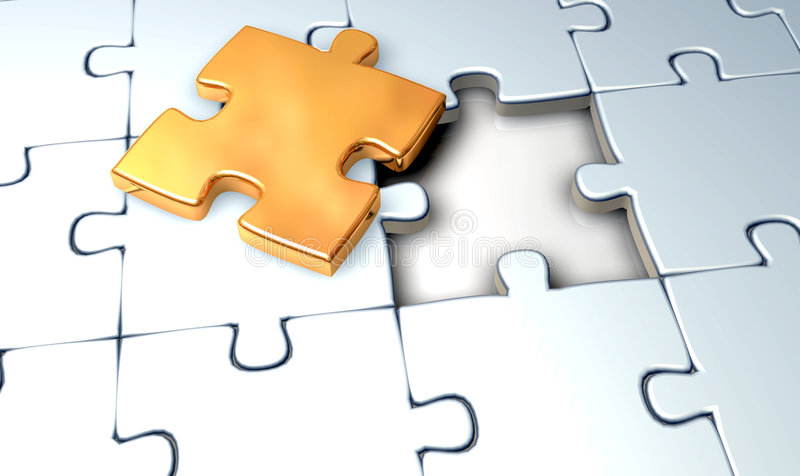 Jigsaw Gold Royalty Free Stock Photo