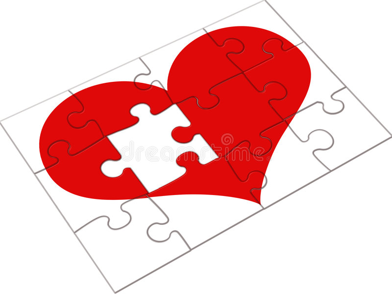 Jigsaw heart royalty free illustration