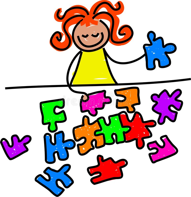 Download Jigsaw kid stock vector. Image of objects, education, puzzle - 756557