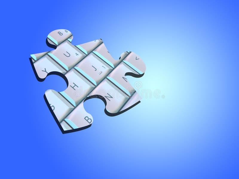 Download Jigsaw piece stock illustration. Illustration of keyboard - 105566
