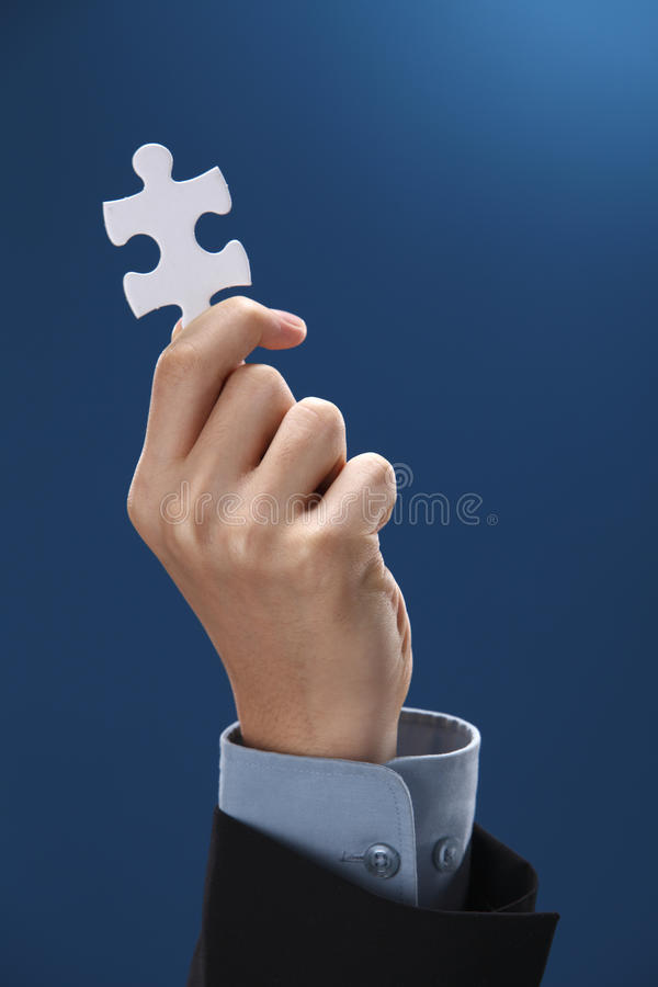 Download Jigsaw piece stock image. Image of single, discovery - 17988783