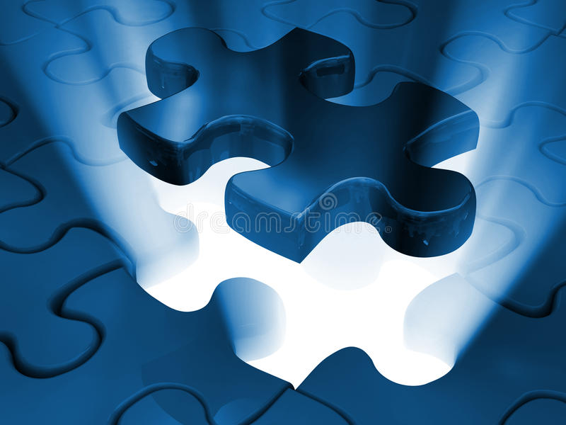 Jigsaw piece of puzzle stock illustration
