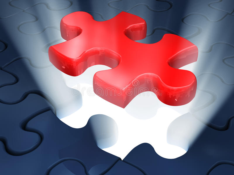 Jigsaw piece of puzzle royalty free illustration