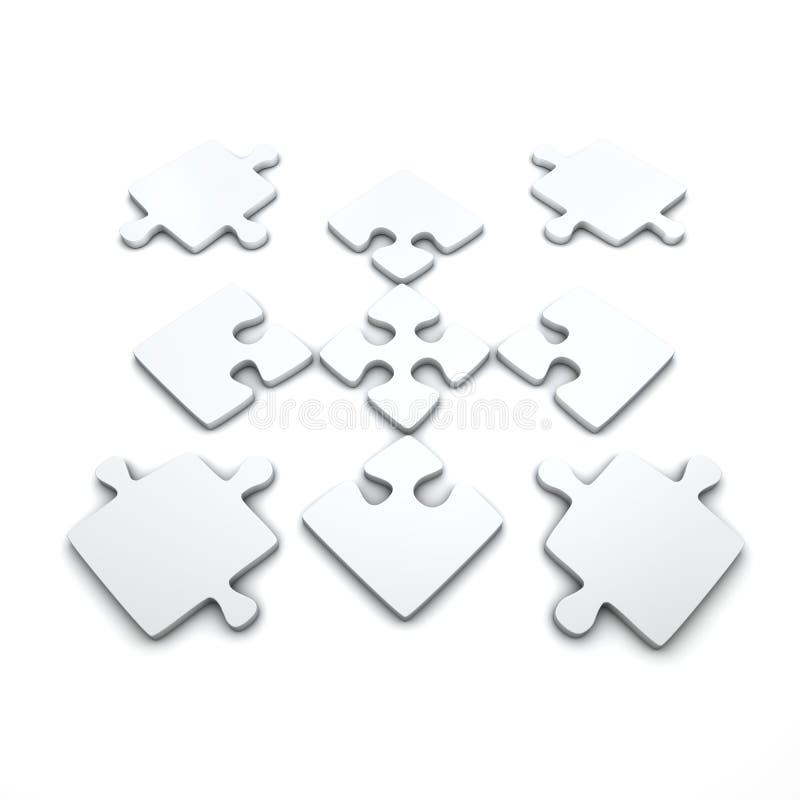 Download Jigsaw pieces stock illustration. Image of cutout, closeup - 13941300