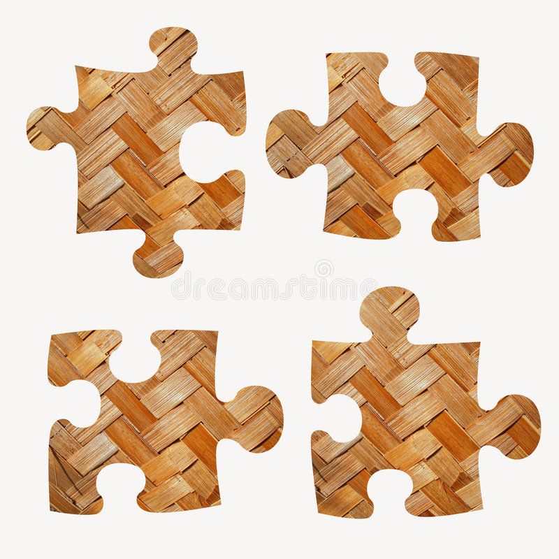 Jigsaw pieces vector illustration