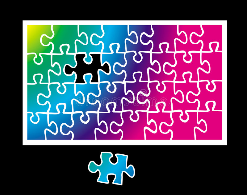 Jigsaw puzzle royalty free illustration