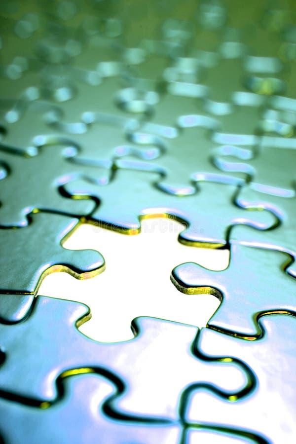 Jigsaw puzzle. stock photo