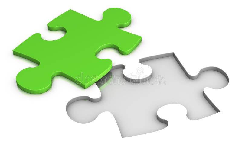 Jigsaw puzzle vector illustration