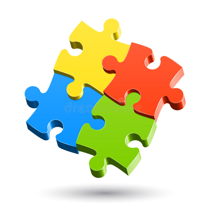 Jigsaw Puzzle. Vector illustration of a Jigsaw Puzzle