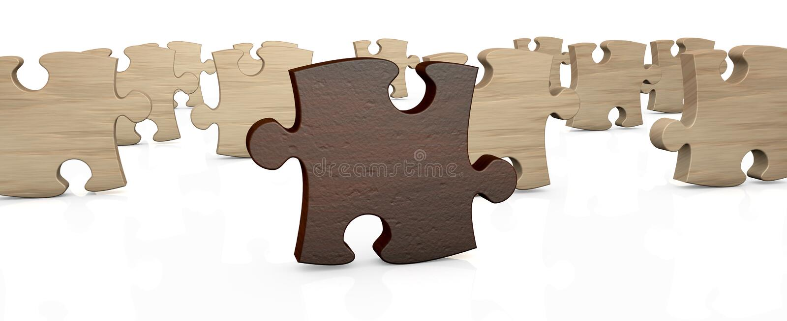 Download Jigsaw puzzle stock illustration. Image of puzzle, different - 23807060
