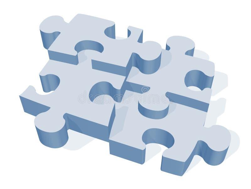 jigsaw puzzle 3 d ilustracja wektor
