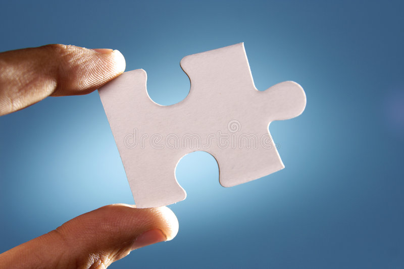 Jigsaw puzzle. A jigsaw puzzle makes a good metaphor for any problem to solve royalty free stock photo