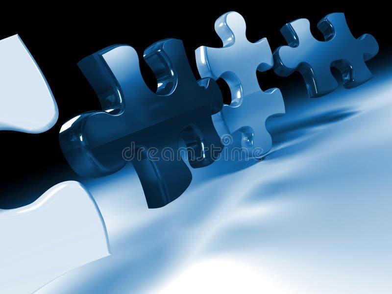 Jigsaw puzzle 3d vector illustration