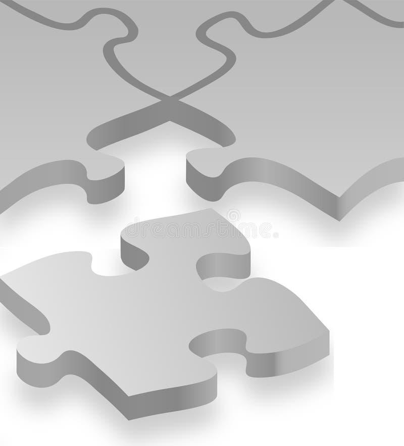 Jigsaw Puzzle Background royalty free illustration