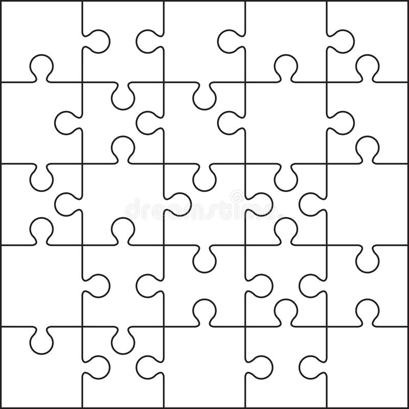 25 jigsaw puzzle blank template stock illustration for Jigsaw puzzle template for word