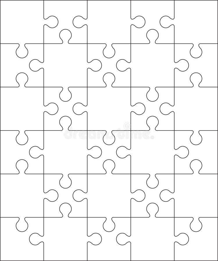 30 jigsaw puzzle blank template or cutting guidelines for Puzzle cut out template