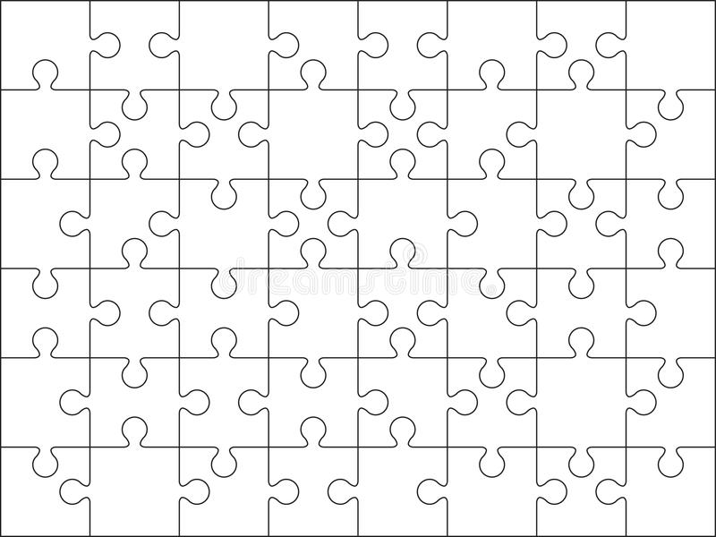 48 Jigsaw Puzzle Blank Template Stock Illustration - Image: 39220435