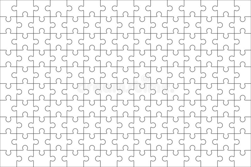 Download Jigsaw Puzzle Blank Template 150 Pieces Stock Illustration