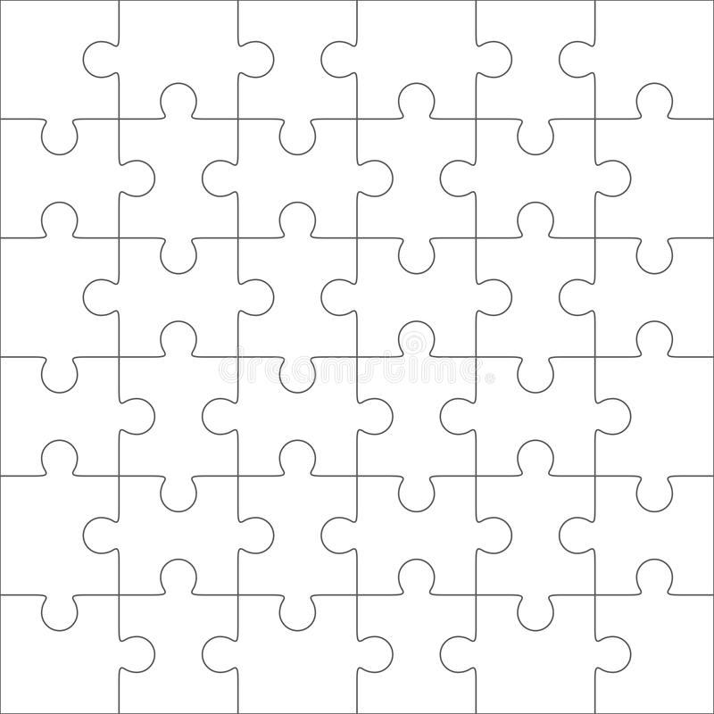 Jigsaw Puzzle Blank Template  Pieces Stock Vector  Image