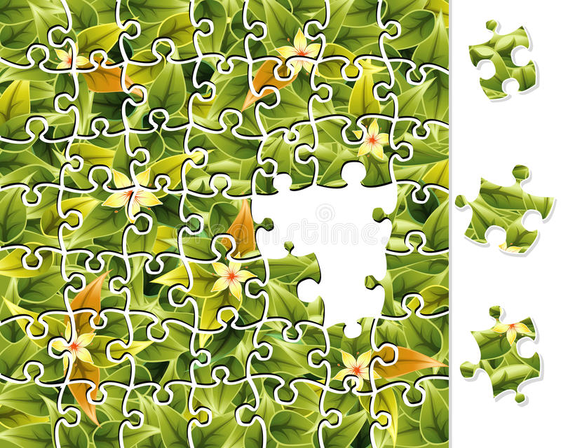 Download Jigsaw Puzzle Flower Pattern Stock Vector - Illustration: 22320756