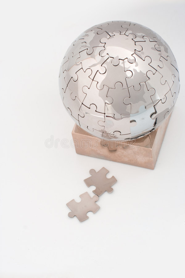Download Jigsaw puzzle globe stock image. Image of puzzle, international - 3192487