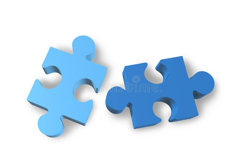 Download Jigsaw puzzle isolated stock illustration. Illustration of organization - 16075176