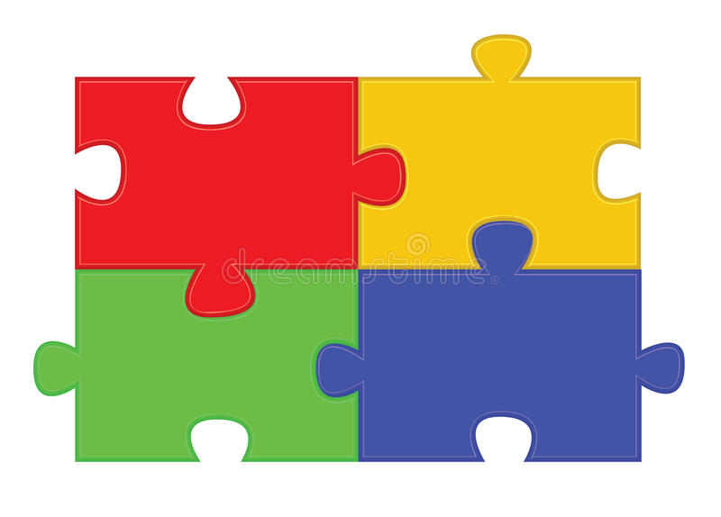 Download Jigsaw puzzle parts stock vector. Image of green, puzzle - 23866179
