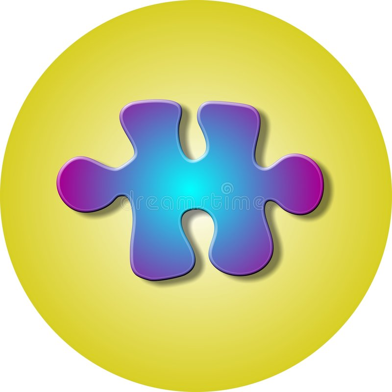 Jigsaw Puzzle Piece stock illustration