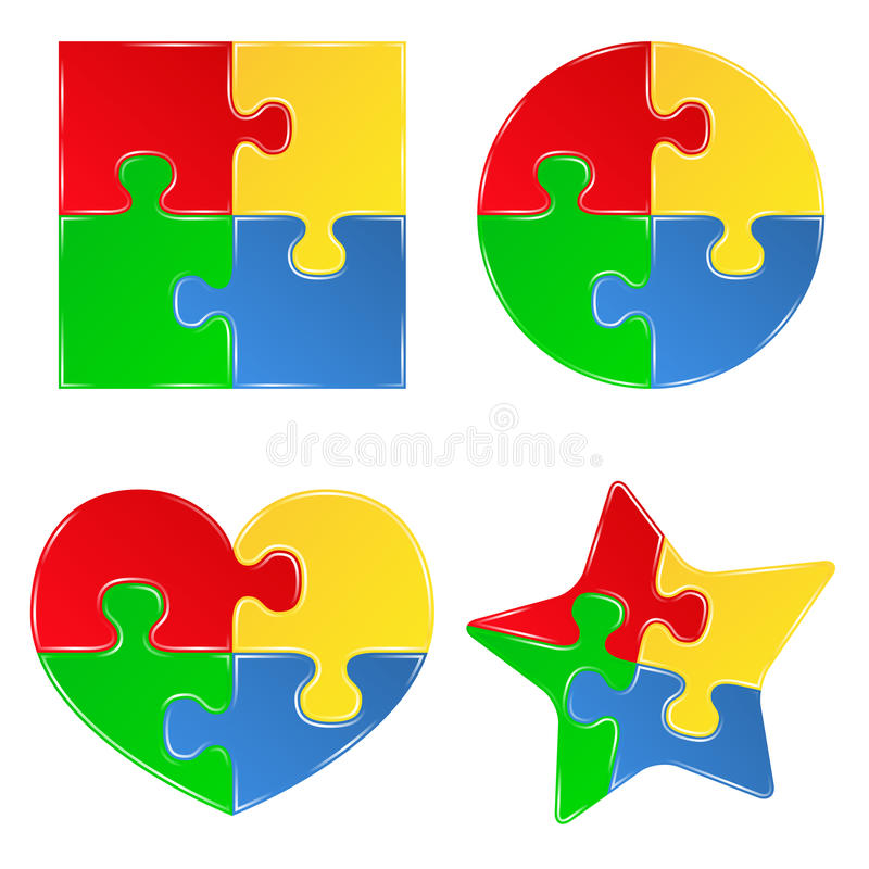 Jigsaw puzzle pieces royalty free illustration