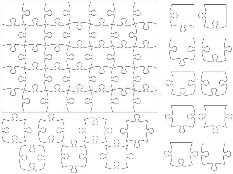 Jigsaw puzzle template royalty free illustration