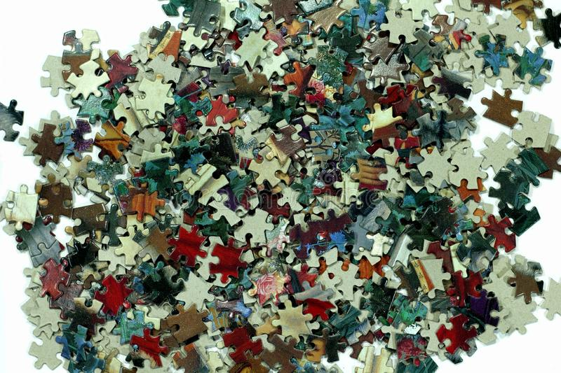 Jigsaw puzzle on white background ,easy game for people stock image