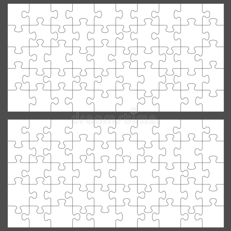 Download Jigsaw puzzles stock vector. Image of blank, piece, illustration - 22385130