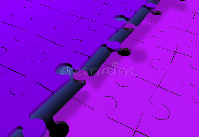 Download Jigsaw Puzzles Attached Together Stock Illustration - Image: 12077111