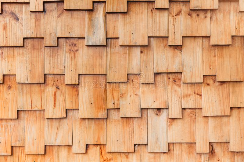 Jigsaw puzzles style wood pattern wall. Modern architecture design for background stock images