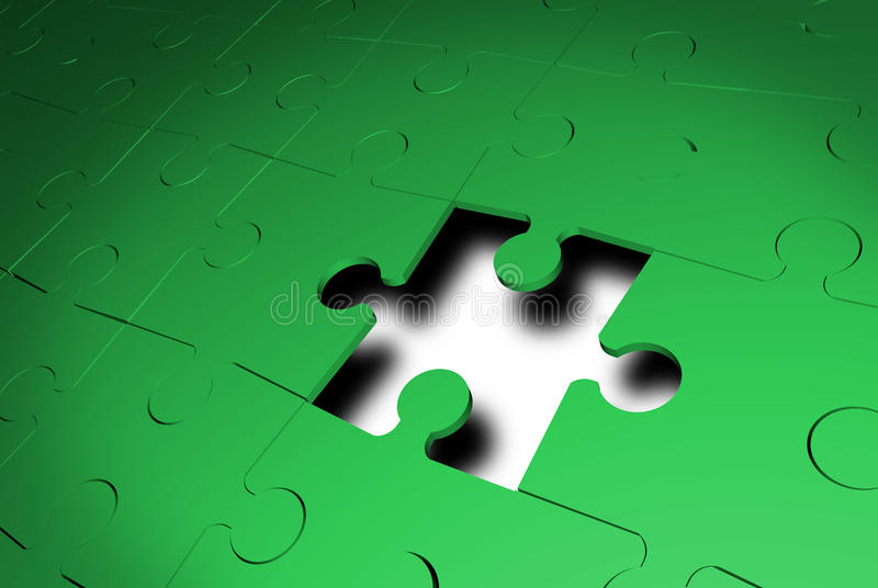 jigsaw som missa pussel för en del royaltyfri illustrationer