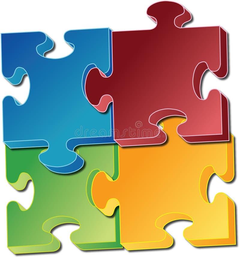 Download Jigsawstycken stock illustrationer. Illustration av jigsaw - 985526