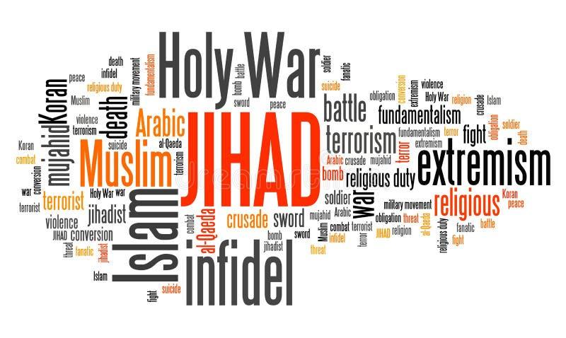 jihad ilustración del vector