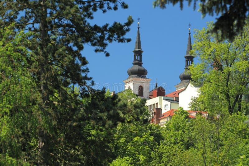 Jihlava. The saint Ignatius church seen from zoo in Jihlava, Czech Republic stock photo