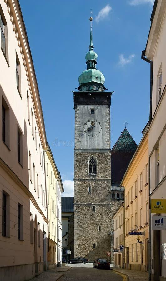 Jihlava , Czech Republic. Church St. James in Jihlava, Czech republic stock photos
