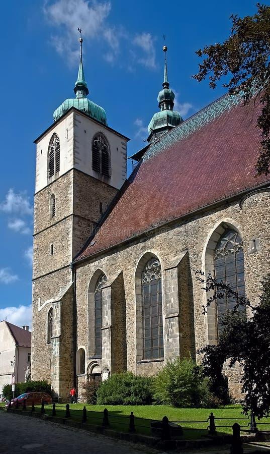 Jihlava , Czech Republic. Church St. James in Jihlava, Czech republic stock photography