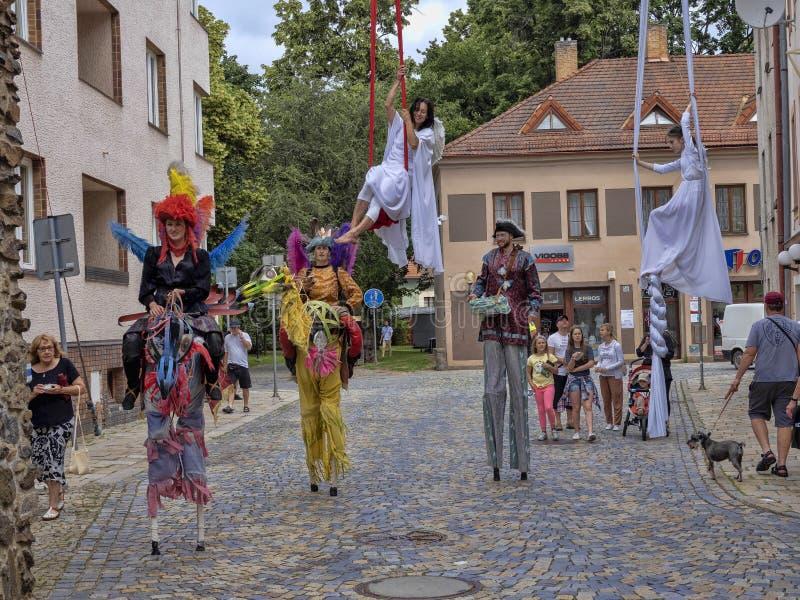 JIHLAVA CZECH REPUBLIC JUNE 22Th. 2019, The Havířov Parade, Fairy Tales, June 22th. 20 Th, Jihlava, Czech Republic. The Havířov Parade, Fairy Tales stock images