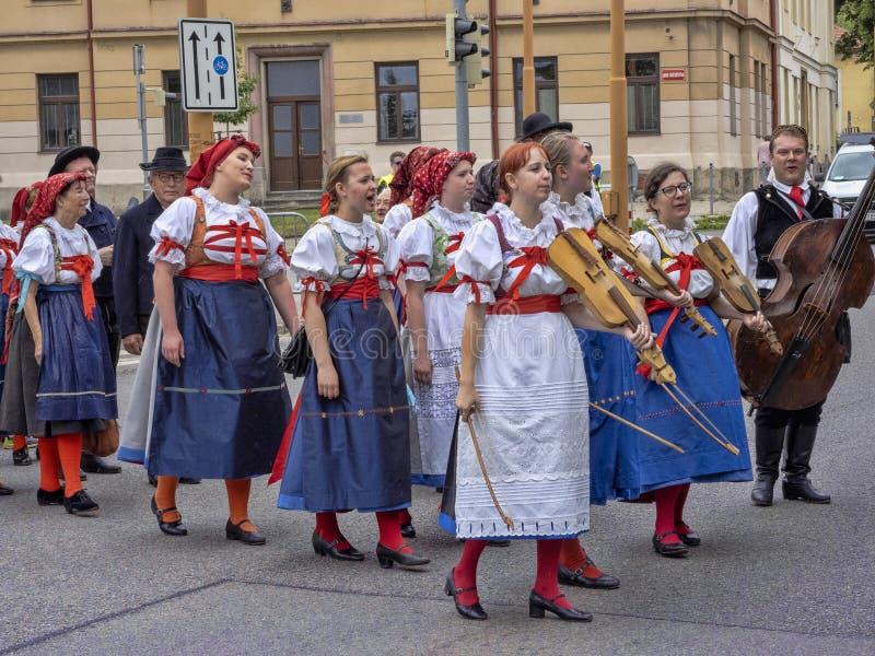JIHLAVA CZECH REPUBLIC JUNE 22Th. 2019, The Mining Parade, June 22th. 20 Th, Jihlava, Czech Republic. The Mining Parade, June 22th. 20 Th, Jihlava, Czech royalty free stock photo