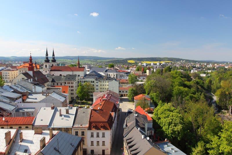 Jihlava panorama stock photo