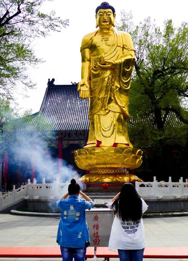 Jile寺庙菩萨雕象  图库摄影