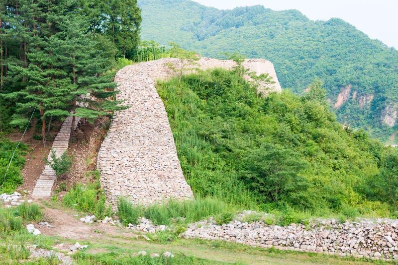 JILIN, CHINE - 27 juillet 2015 : Ville de montagne de Wandu (monde de l'UNESCO il photographie stock