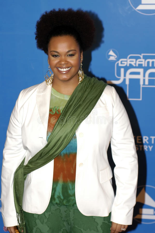Jill Scott sur le tapis rouge. photos libres de droits