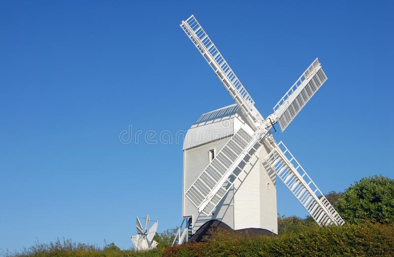 Jill Windmill, l'une des moulins à vent Clayton sur South Downs Way dans le Sussex de l'Ouest près de Brighton, Angleterre, Royau image stock