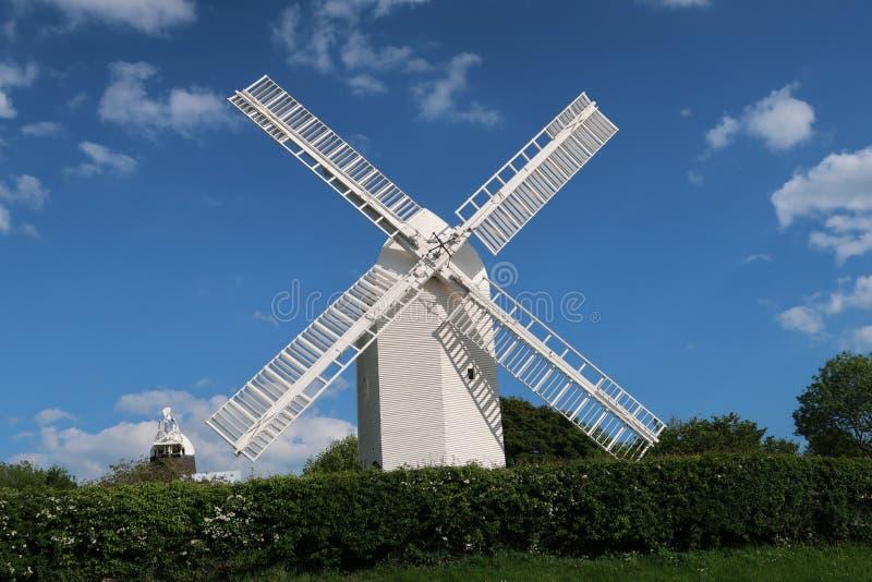 Jill Windmill su Clayton Hill in Sussex, Inghilterra immagini stock